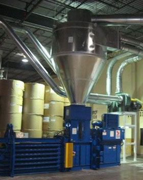 Cyclone System and baler installation