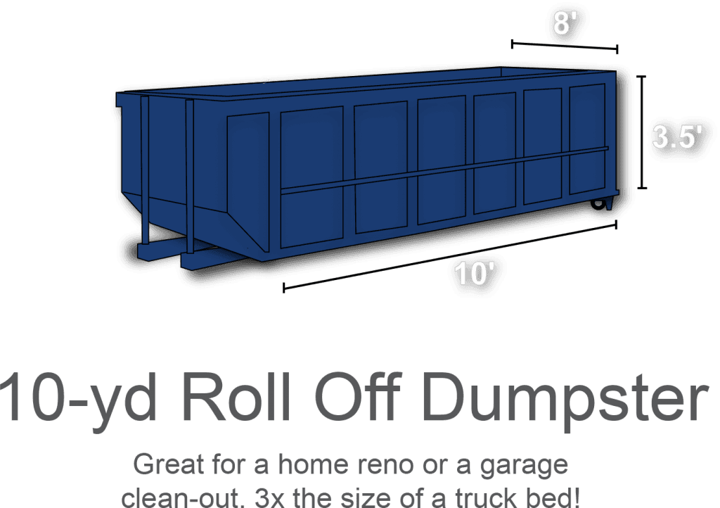10-yd Roll Off Dumpster