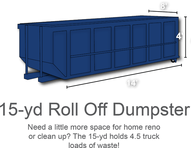 15-yd Roll Off Dumpster