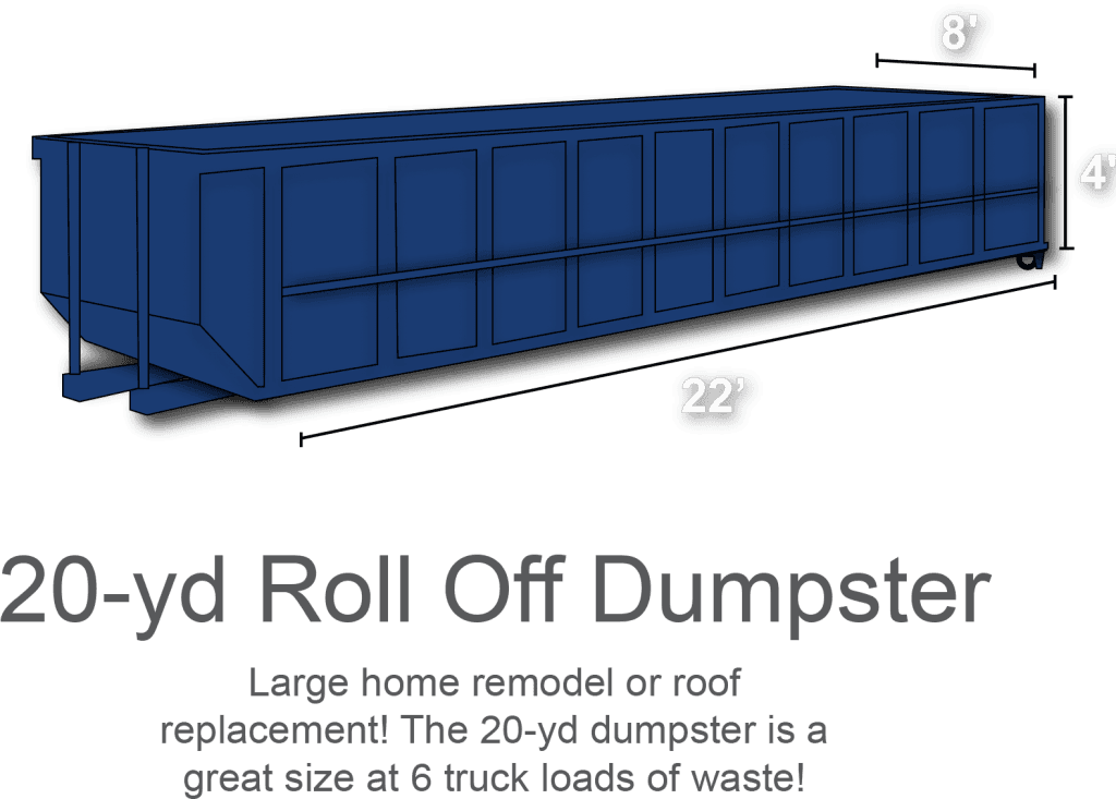 20-yd Roll Off Dumpster