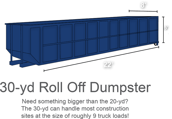 30-yd Roll Off Dumpster