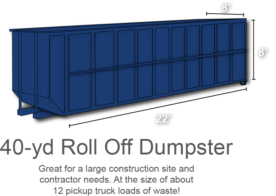 40-yd Roll Off Dumpster